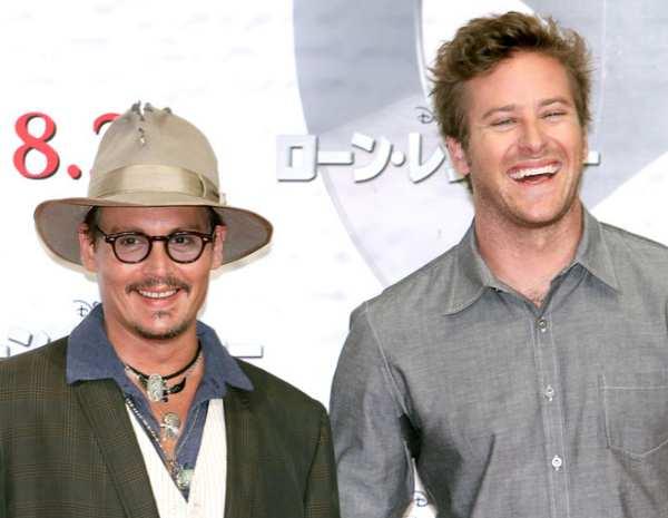 """Armie Hammer: """"Johnny Depp vive en otro planeta"""""""