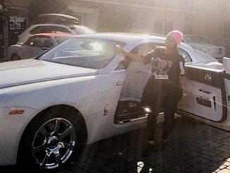 Chyna y su Rolls Royce