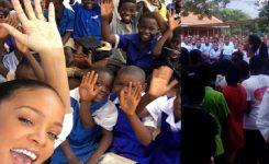 Video: Rihanna da aula de matemáticas a niños de Malawi