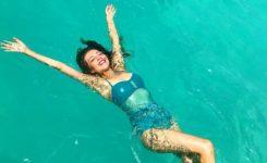 Thalía ya disfruta de sus vacaciones de verano