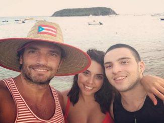 Julián Gil con sus hijos Nicole y Julián...