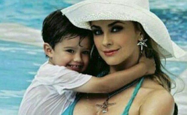 Aracely Arámbula desata polémica por foto con su hijo Daniel