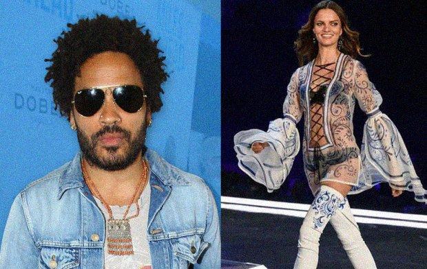Lenny Kravitz sale con la modelo  Barbara Fialho