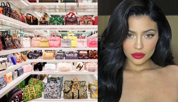 b064590a9 Kylie Jenner muestra uno el tesoro que tiene en bolsos en revista