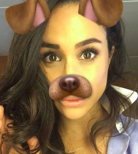 Meghan Markle : Una selfie con filtro de perrito