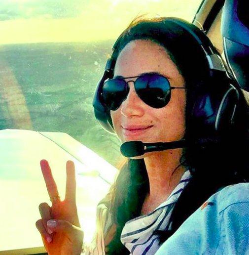 Meghan Markle : Una selfie de copiloto de avión