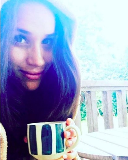 Meghan Markle : Una selfie disfrutando del té