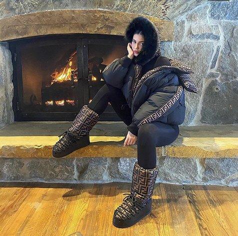 El lujoso look de invierno de Kylie Jenner