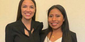 Yalitza Aparicio se reúne con la política demócrata Alexandria Ocasio-Cortez