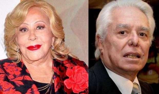 Silvia Pinal y Enrique Guzmán coinciden en el bautizo de su nieto