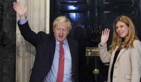 Novia embarazada de Boris Johnson sufre los síntomas del coronavirus
