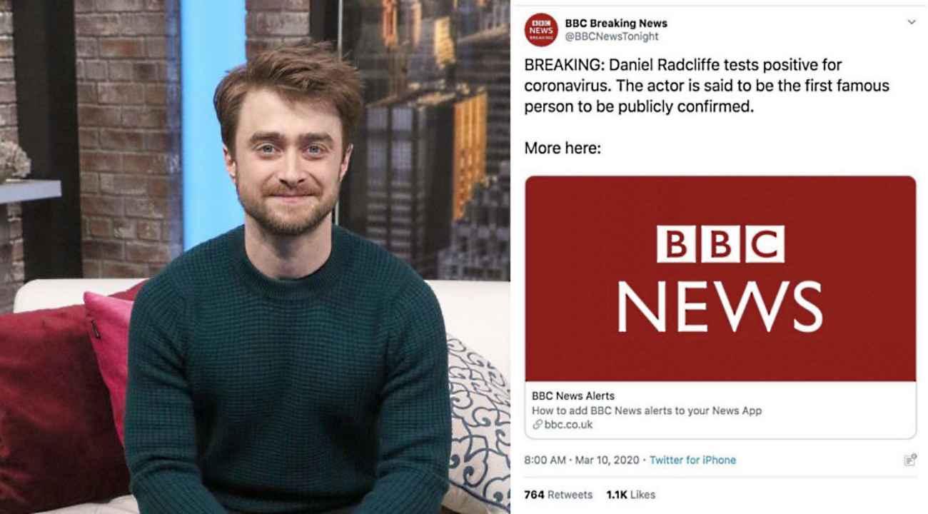 Daniel Radcliffe encontró divertida noticia falsa de coronavirus sobre él