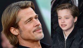 """Brad Pitt le organizó """"fiesta de pizza"""" a Shiloh junto con todos sus hermanos"""