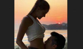 Adrián Uribe y su joven novia esperan primer hijo juntos