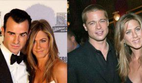 Jennifer Aniston hace confesiones de sus matrimonios con Brad Pitt y Justin Theroux