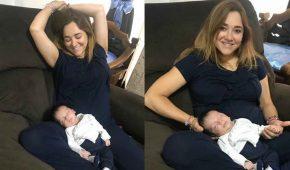 Así están Sherlyn y su bebé André que cumple un mes de nacido