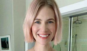 January Jones se une al mes de concientización sobre el cáncer de mama