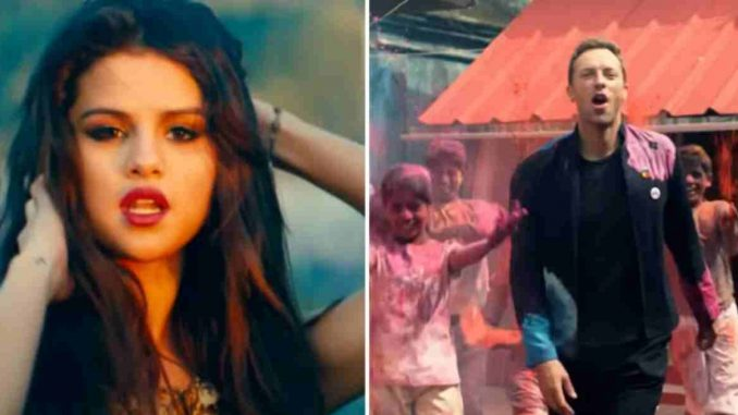 Selena y Coldplay